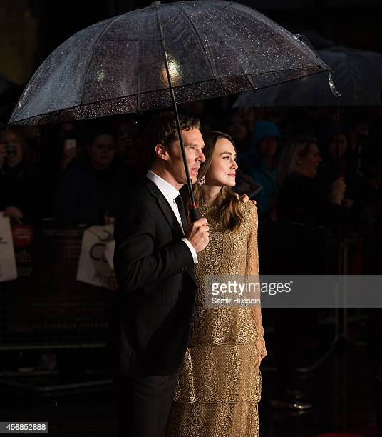Benedict Cumberbatch and Keira Knightley attend a screening of The Imitation Game on the opening night gala of the 58th BFI London Film Festival at...