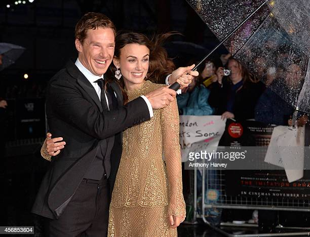 Benedict Cumberbatch and Keira Knightley attend the opening night gala screening of The Imitation Game during the 58th BFI London Film Festival at...