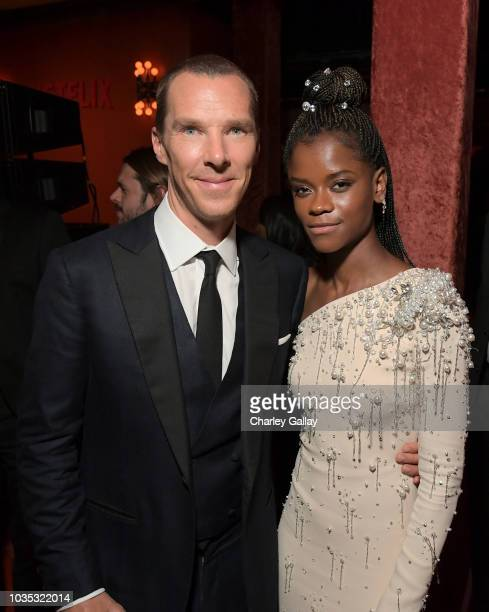 Benedict Cumberbatch and Letitia Wright attend the 2018 Netflix Primetime Emmys After Party at NeueHouse Hollywood on September 17 2018 in Los...
