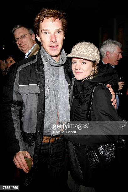 Benedict Cumberbatch and Olivia Williams attend the a fundraiser party for the Almeida Theatre at the Almeida Theatre on March 23 2007 in London...