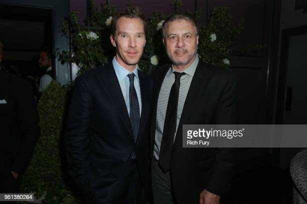 Benedict Cumberbatch and President of Programming Showtime Networks Gary Levine attend the after party for the premiere of Showtime's 'Patrick...