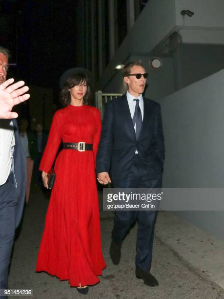 Benedict Cumberbatch and Sophie Hunter are seen on April 25 2018 in Los Angeles California