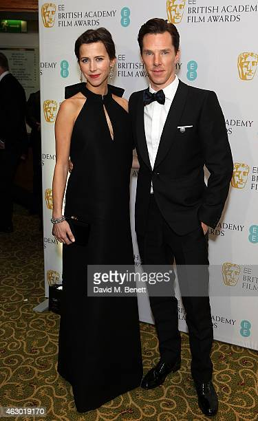 Benedict Cumberbatch and Sophie Hunter attend the after party for the EE British Academy Film Awards at The Grosvenor House Hotel on February 8, 2015...