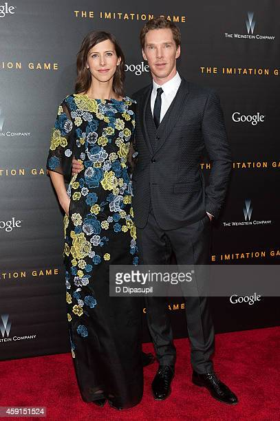 "Benedict Cumberbatch and Sophie Hunter attend ""The Imitation Game"" New York Premiere at the Ziegfeld Theater on November 17, 2014 in New York City."