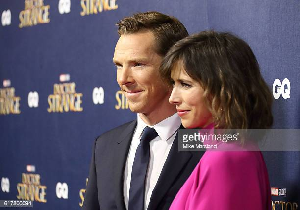 Benedict Cumberbatch and Sophie Hunter attend the red carpet launch event for 'Doctor Strange' on October 24 2016 in London United Kingdom