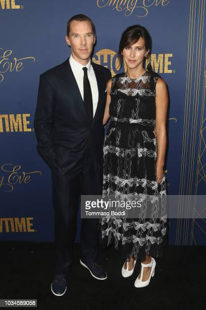 Benedict Cumberbatch and Sophie Hunter attend the Showtime Emmy Eve Nominees Celebration at Chateau Marmont on September 16 2018 in Los Angeles...