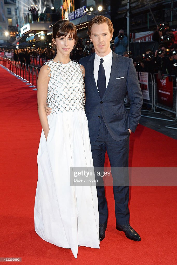 Benedict Cumberbatch (R) and Sophie Hunter attend the Virgin Atlantic Gala screening of 'Black Mass' during the BFI London Film Festival at Odeon Leicester Square on October 11, 2015 in London, England.