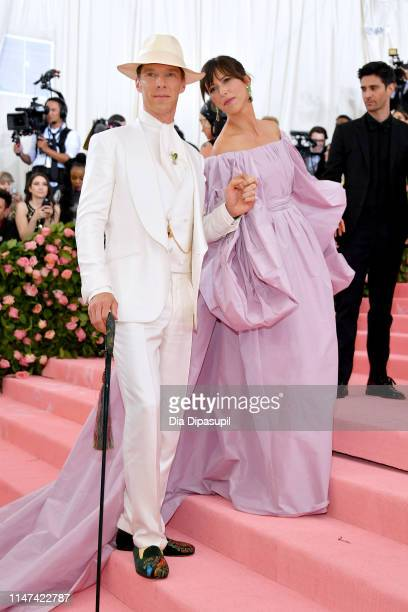 Benedict Cumberbatch and Sophie Hunter attends The 2019 Met Gala Celebrating Camp: Notes on Fashion at Metropolitan Museum of Art on May 06, 2019 in...