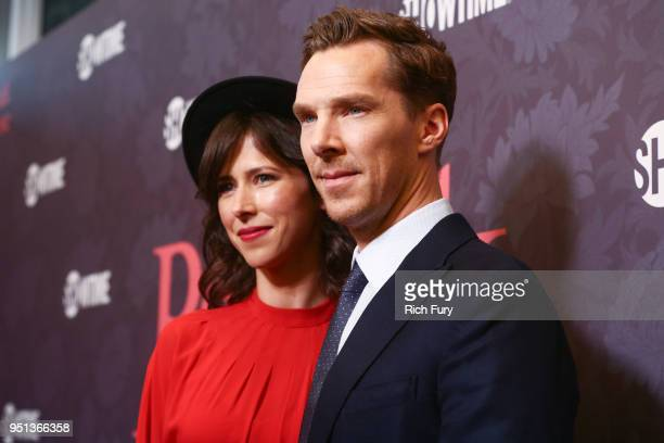 Benedict Cumberbatch and Sophie Hunter attends the premiere of Showtime's 'Patrick Melrose' at Linwood Dunn Theater on April 25 2018 in Los Angeles...