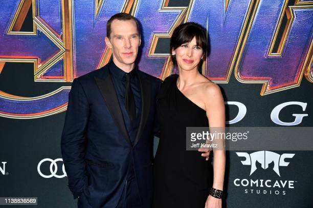 Benedict Cumberbatch and Sophie Hunter attends the World Premiere of Walt Disney Studios Motion Pictures Avengers Endgame at Los Angeles Convention...