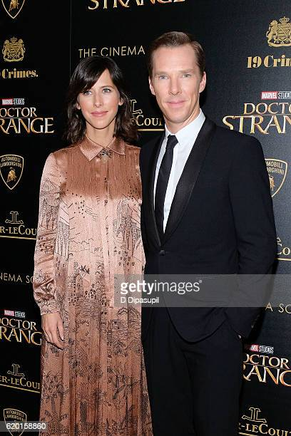 Benedict Cumberbatch and wife Sophie Hunter attend a screening of Marvel Studios' 'Doctor Strange' hosted by Lamborghini with The Cinema Society...