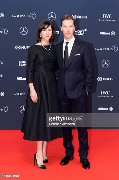 Benedict Cumberbatch and wife Sophie Hunter attend the 2018 Laureus World Sports Awards at Salle des Etoiles Sporting MonteCarlo on February 27 2018...