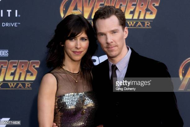 Benedict Cumberbatch and wife Sophie Hunter attend the Avengers Infinity War World Premiere on April 23 2018 in Los Angeles California