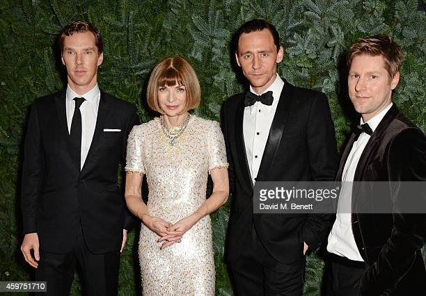 Benedict Cumberbatch Anna Wintour Tom Hiddleston and Christopher Bailey attend a champagne reception at the 60th London Evening Standard Theatre...