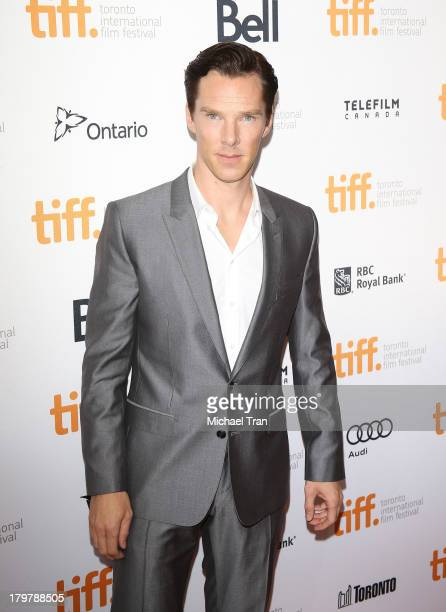 Benedict Cumberbatch arrives at the '12 Years A Slave' premiere during the 2013 Toronto International Film Festival held at Princess of Wales Theatre...