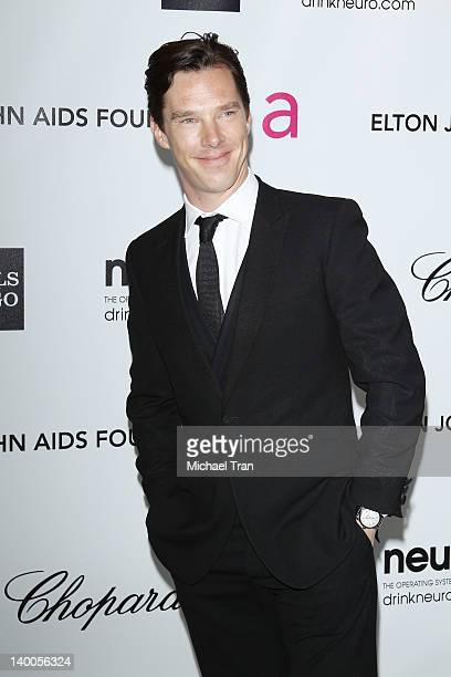 Benedict Cumberbatch arrives at the 20th Annual Elton John AIDS Foundation Academy Awards viewing party held across the street from the Pacific...