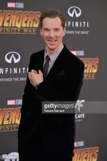 Benedict Cumberbatch arrives at the Premiere Of Disney And Marvel's 'Avengers: Infinity War' on April 23, 2018 in Los Angeles, California.