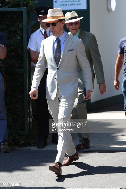 Benedict Cumberbatch arrives at Wimbledon Tennis for Men's Final Day on July 15 2018 in London England