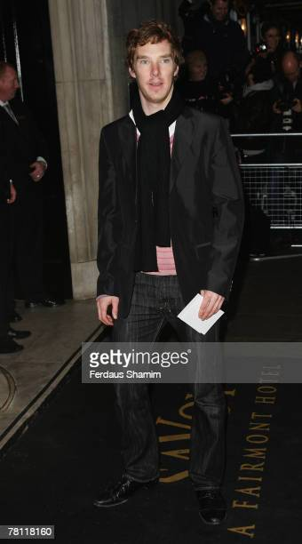 Benedict Cumberbatch arrives for The Evening Standard Theatre Awards at The Savoy on November 27 2007 in London England