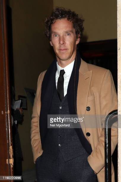 Benedict Cumberbatch arriving at the Fayre of St James Christmas Carol Concert at St James's Church Piccadilly on November 26, 2019 in London,...