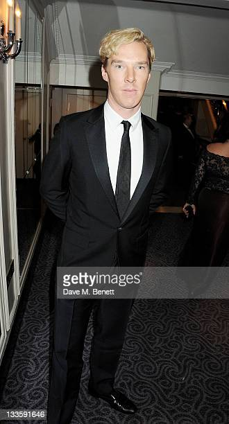 Benedict Cumberbatch attends a drinks reception during the 57th Evening Standard Theatre Awards at The Savoy Hotel on November 20 2011 in London...