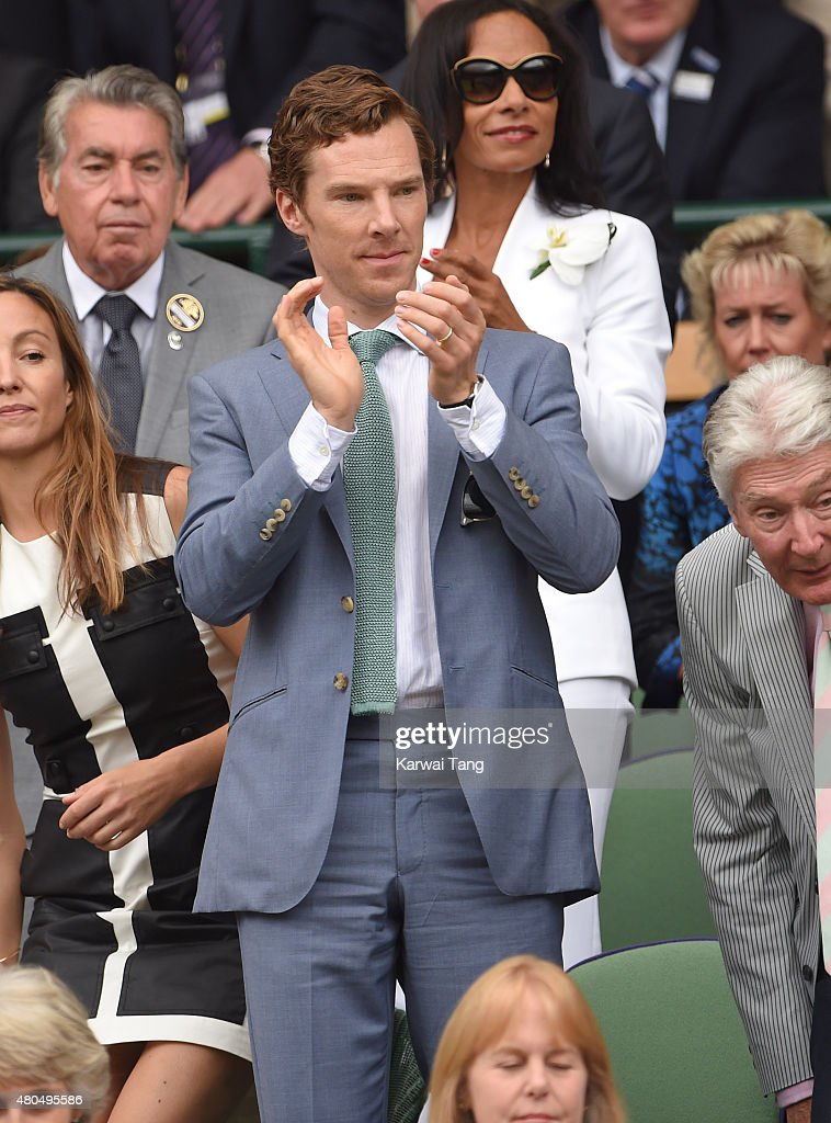 Benedict Cumberbatch attends day 13 of the Wimbledon Tennis Championships at Wimbledon on July 12, 2015 in London, England.