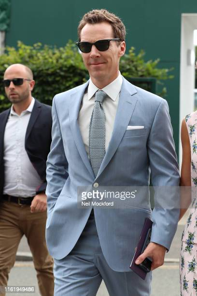 Benedict Cumberbatch attends Men's Final Day at the Wimbledon 2019 Tennis Championships at All England Lawn Tennis and Croquet Club on July 14, 2019...