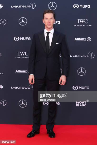 Benedict Cumberbatch attends the 2018 Laureus World Sports Awards at Salle des Etoiles Sporting MonteCarlo on February 27 2018 in Monaco Monaco