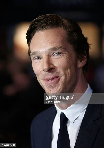 Benedict Cumberbatch attends the 'Black Mass' Virgin Atlantic Gala screening during the BFI London Film Festival at Odeon Leicester Square on October...