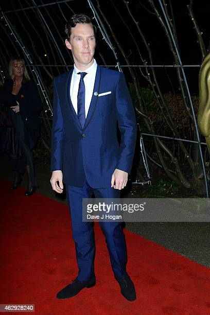 Benedict Cumberbatch attends the EE British Academy Awards nominees party at Kensington Palace on February 7 2015 in London England