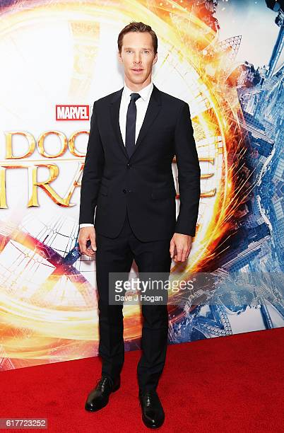 """Benedict Cumberbatch attends the fan screening event for """"Doctor Strange"""" on October 24, 2016 in London, United Kingdom."""