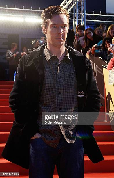 Benedict Cumberbatch attends the screening of 'Parade's End' during the 39th Ghent Film Festival on October 11 2012 in Ghent Belgium