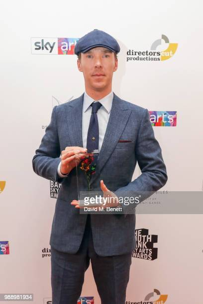 Benedict Cumberbatch attends The South Bank Sky Arts Awards 2018 at The Savoy Hotel on July 1 2018 in London England