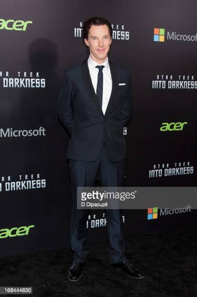 Benedict Cumberbatch attends the 'Star Trek Into Darkness' screening at AMC Loews Lincoln Square on May 9 2013 in New York City