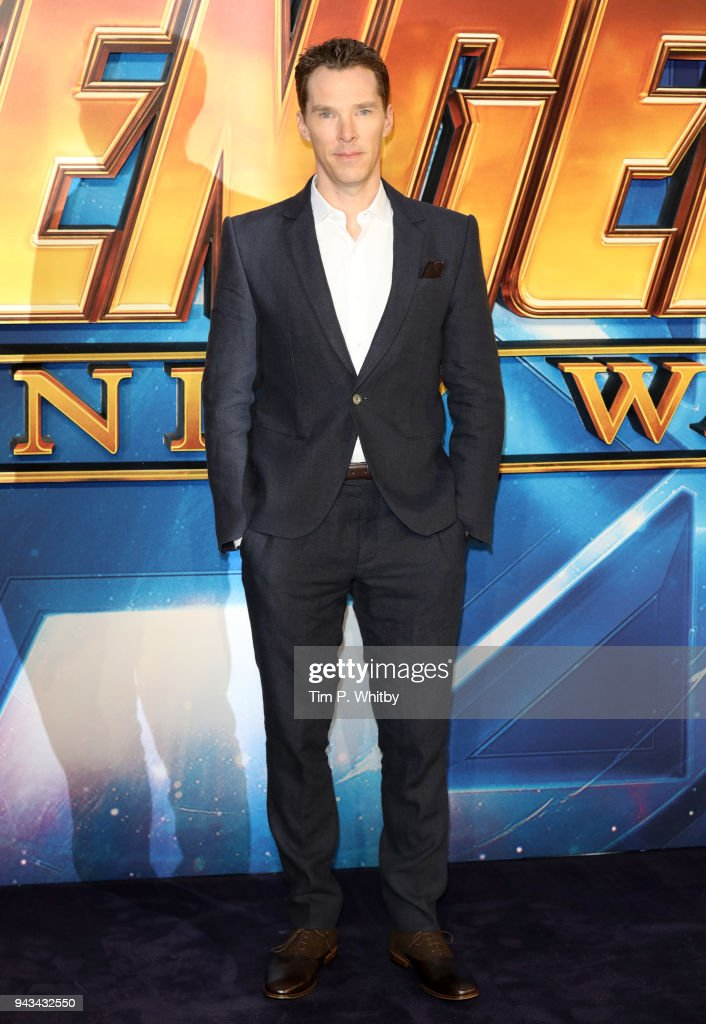 Benedict Cumberbatch attends the UK Fan Event for 'Avengers Infinity War' at Television Studios White City on April 8, 2018 in London, England.