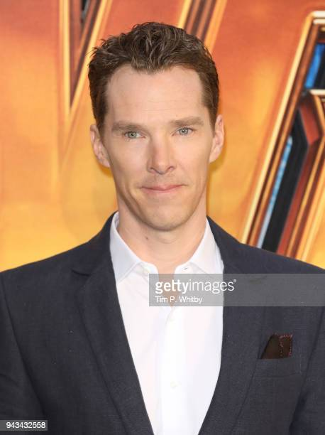 Benedict Cumberbatch attends the UK Fan Event for 'Avengers Infinity War' at Television Studios White City on April 8 2018 in London England