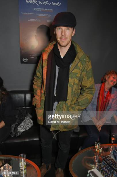 Benedict Cumberbatch attends the 'Walk With Me' party sponsored by Martin Millers Gin at The Den 100 Wardour St on October 13 2017 in London England