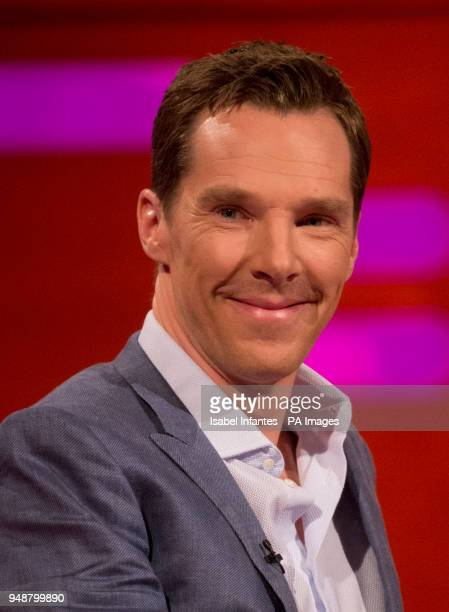 Benedict Cumberbatch during the filming of the Graham Norton Show at The London Studios south London to be aired on BBC One on Friday evening