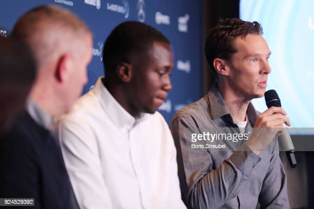 Benedict Cumberbatch during the Laureus Sport For Good Award Announcement at the Meridien Beach Plaza on February 26 2018 in Monaco Monaco