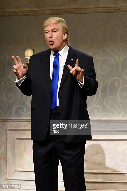 LIVE 'Benedict Cumberbatch' Episode 1709 Pictured Alec Baldwin as Republican Presidential Candidate Donald Trump during the 'Hillary Clinton / Donald...