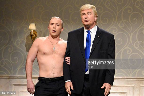 LIVE Benedict Cumberbatch Episode 1709 Pictured Beck Bennett as Russian President Vladimir Putin and Alec Baldwin as Republican Presidential...