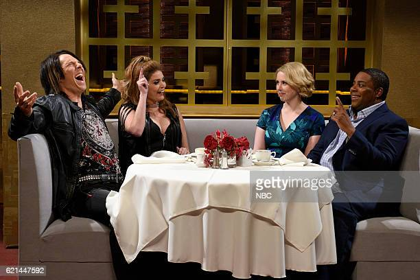 LIVE 'Benedict Cumberbatch' Episode 1709 Pictured Benedict Cumberbatch as Ricky Diamonds Cecily Strong as Gemma Vanessa Bayer and Kenan Thompson...