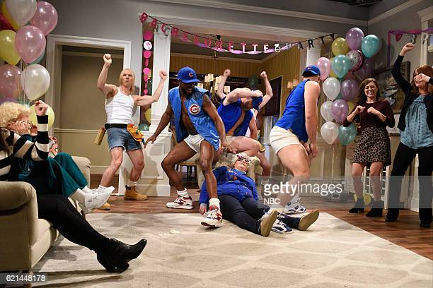 LIVE Benedict Cumberbatch Episode 1709 Pictured Benedict Cumberbatch Dexter Fowler David Ross Aidy Bryant Anthony Rizzo Melissa Villaseñor and Cecily...