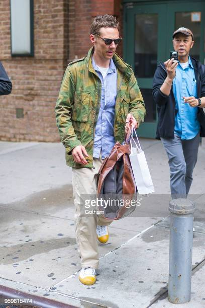 Benedict Cumberbatch is seen in Tribeca on May 17 2018 in New York City