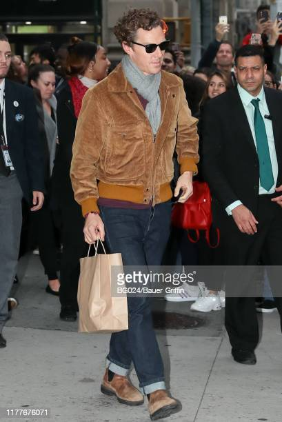 Benedict Cumberbatch is seen outside the Build Studio on October 22 2019 in New York City