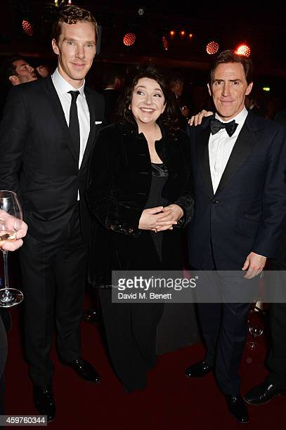 Benedict Cumberbatch Kate Bush and Rob Brydon attend an after party following the 60th London Evening Standard Theatre Awards at the London Palladium...
