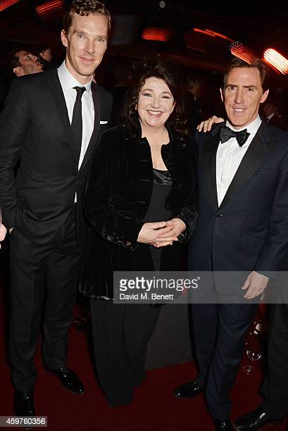 Benedict Cumberbatch, Kate Bush and Rob Brydon attend an after party following the 60th London Evening Standard Theatre Awards at the London...