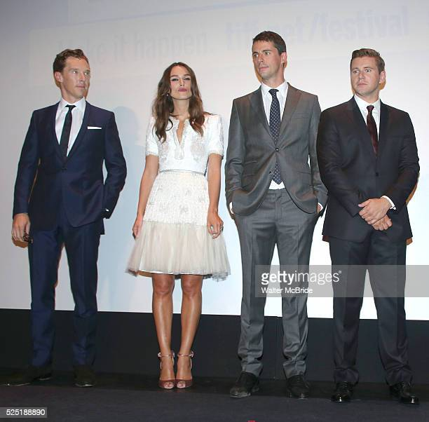 Benedict Cumberbatch Keira Knightley Matthew Goode and Allen Leech during the Presentation for 'The Imitation Game' at the Princess of Whales Theatre...