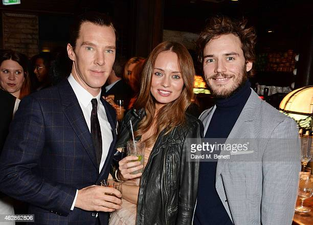 Benedict Cumberbatch Laura Haddock and Sam Claflin attend Harvey Weinstein's BAFTA Dinner in partnership with Burberry GREY GOOSE at Little House...