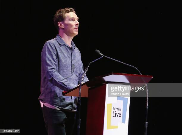 Benedict Cumberbatch performs in the New York debut of the hit show 'Letters Live' at Town Hall on May 19 2018 in New York City